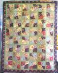 Click to view larger image of Quilt Throw 55 x 71 Sweet November Crazy Four Patch (Image2)