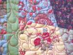 Click to view larger image of Quilt Throw 55 x 71 Sweet November Crazy Four Patch (Image3)