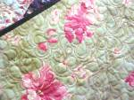 Click to view larger image of Quilt Throw 55 x 71 Sweet November Crazy Four Patch (Image4)