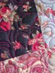 Click to view larger image of Quilt Throw 55 x 71 Sweet November Crazy Four Patch (Image5)