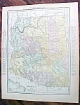 Antique Map Arizona Nevada 1912
