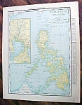 Antique Map Philippine Islands 1912