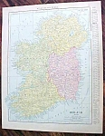 Antique Map Ireland Spain Portugal 1912