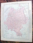 Antique Map Russia Balkan States 1912