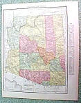 Antique Map Arizona 1916 Rand McNally Nice Colors