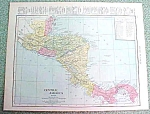 Antique Map Central America 1916 Rand McNally