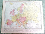 Antique Map Europe British Isles 1916 Rand McNally