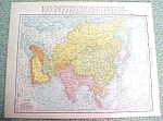 Antique Map Asia Africa 1916 Rand McNally
