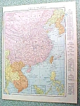 Click to view larger image of Antique Map China Japan 1916 Rand McNally (Image1)