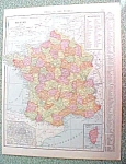 Antique Map France Belgium Netherlands 1916