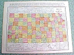 Click to view larger image of Antique Map Kansas 1916 Rand McNally Nice Colors (Image1)