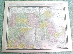 Antique Map Massachusetts 1916 Rand McNally Nice Colors