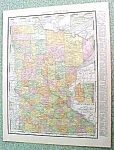 Click here to enlarge image and see more about item R191639: Antique Map Minnesota 1916 Rand McNally Nice Colors