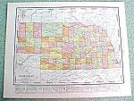 Click to view larger image of Antique Map Nebraska 1916 Rand McNally (Image1)