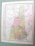 Click here to enlarge image and see more about item R191653: Antique Map New Hampshire 1916 Rand McNally