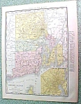 Antique Map Rhode Island 1916 Rand McNally