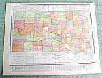 Antique Map South Dakota 1916 Rand McNally