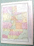 Antique Map Utah 1916 Rand McNally