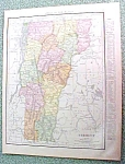 Antique Map Vermont 1916 Rand McNally