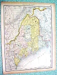 Antique Map Maine New Hampshire Vermont 1890 Rand McNal