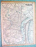 Antique Map Philadelphia New York City Brooklyn 1890