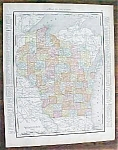 Click to view larger image of Map Wisconsin Minnesota 1912 Rand McNally (Image1)