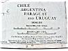 Click to view larger image of Map Argentina Chile Ecuador Peru 1912 (Image2)