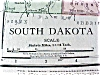 Click to view larger image of Antique Map South Dakota North Dakota 1912 (Image2)