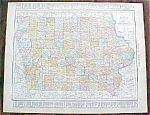 Click to view larger image of Antique Map Iowa Missouri 1912 Rand McNally (Image1)