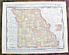 Click to view larger image of Antique Map Iowa Missouri 1912 Rand McNally (Image3)