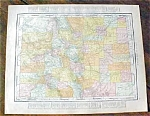 Antique Map Colorado New Mexico 1912 Rand McNally