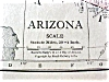 Click to view larger image of Antique Map Arizona Nevada 1912 Rand McNally (Image2)