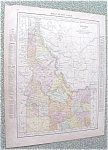 Click to view larger image of Map Idaho Montana 1912 Antique (Image1)