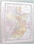 Click to view larger image of Map Utah Wyoming 1912 Antique (Image1)