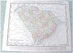 Map South Carolina Georgia 1912 Antique