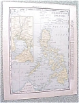 Map Philippine Islands 1912 Antique Luzon