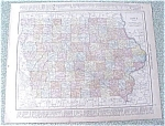 Click to view larger image of Map Iowa Missouri 1912 Antique (Image1)