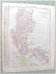 Map Luzon Island Hawaii 1912 Antique