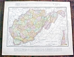 Click to view larger image of Map West Virginia North Carolina 1912 (Image1)