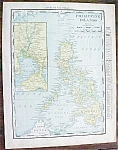 Map Philippine Islands 1912 Rand McNally