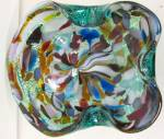 Click to view larger image of Ashtray/Bowl Hand Blown w/Multi-Colored Art Glass (Image2)