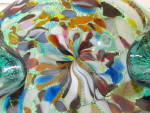 Click to view larger image of Ashtray/Bowl Hand Blown w/Multi-Colored Art Glass (Image3)