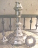 Click to view larger image of Silver Candlestick Sheffield + Snuffer Cap (Image2)