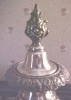 Click to view larger image of Silver Candlestick Sheffield + Snuffer Cap (Image3)