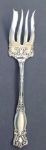 Ornate W A Rogers Silver Plate Meat Fork