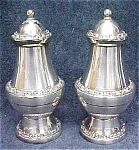 Click to view larger image of Ornate Silver Plated Salt & Pepper England (Image1)