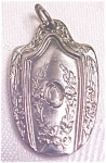 Click to view larger image of Silverplate Spoon Pendant Ornate Floral (Image1)