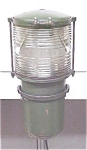 Click here to enlarge image and see more about item T15048: Antique Navigation Lantern Fresnel Type Lens