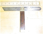 Antique Rosewood Brass T Bevel Gauge 10 Inch