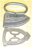 Click here to enlarge image and see more about item T16402: Antique Sadiron & Trivet W H Howell 1800's Flat Iron